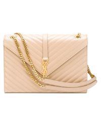 Saint Laurent - Pink Large 'monogram' Shoulder Bag - Lyst