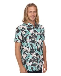 Rip Curl | Blue Ripcurl Short-sleeve Ventura Floral Shirt for Men | Lyst