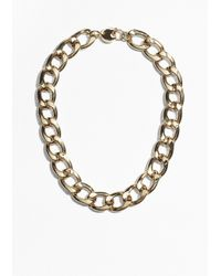 & Other Stories | Metallic Curb Chain Necklace | Lyst