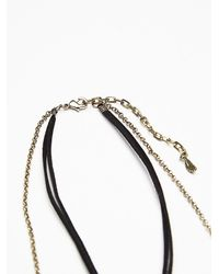 Free People | Metallic Womens Stella High Low Necklace | Lyst