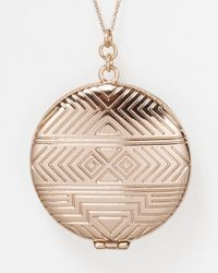 House of Harlow 1960 | Metallic Medallion Locket Necklace 28 | Lyst