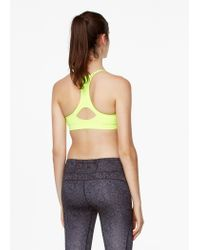 Mango - Yellow Fitness & Running - Seamless Light Impact Bra - Lyst