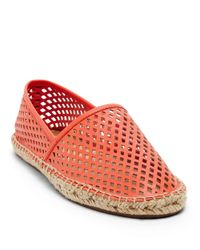 Dolce Vita | Pink Perforated Espadrille Flats | Lyst