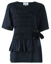 3.1 Phillip Lim | Blue Ruched Panel Blouse | Lyst