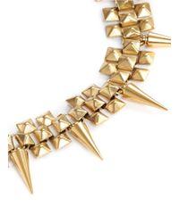 Ela Stone | Metallic 'marla' Pyramid Chain Spike Bracelet | Lyst