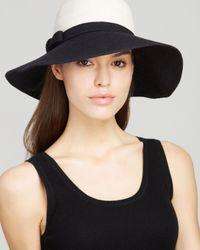 kate spade new york - Black Colorblock Sun Hat - Lyst