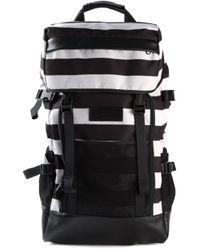 AMI | Black Striped Backpack for Men | Lyst