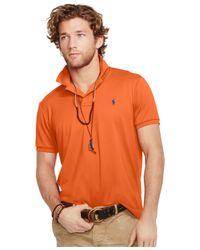 Polo Ralph Lauren | Orange Performance Mesh Polo Shirt for Men | Lyst