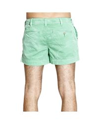 Ralph Lauren Blue Label | Green Trouser Short Cotton Delave' | Lyst