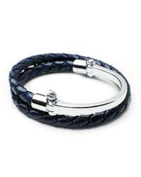 Miansai | Blue Half-cuff With Woven Bracelet | Lyst