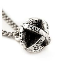 DIESEL | Metallic 'Only The Brave' Pendant Necklace for Men | Lyst