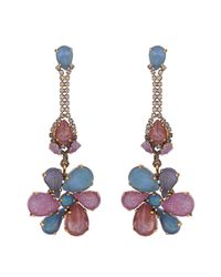 Erickson Beamon - Pink Botanical Garden Earrings - Lyst