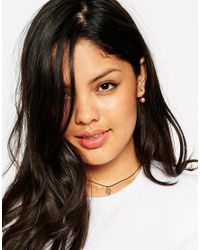 Asos Curve | Metallic Hamsa Choker Necklace | Lyst