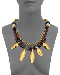 Lizzie Fortunato | Metallic Morrocan Sun Semi-precious Multi-stone Beaded Two-strand Necklace | Lyst