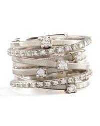 Marco Bicego - Metallic Goa Seven-row White Gold Diamond Ring - Lyst