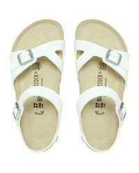 Birkenstock | Birkenstock Rio 2 Strap White Sandals | Lyst