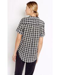 Equipment - Black Short Sleeve Slim Signature Silk Shirt - Lyst
