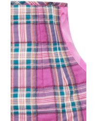 Natasha Zinko - Purple Checked Short - Lyst