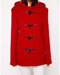 Gloverall | Red Short Duffle Coat | Lyst