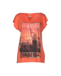 Hilfiger Denim - Pink T-shirt - Lyst