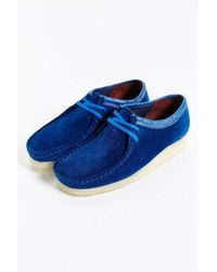 Clarks - Blue X Stussy Wallabee Shoe for Men - Lyst