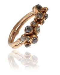 Ruth Tomlinson - Metallic Gold Double Cluster Diamond Ring - Lyst