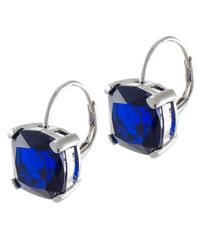 Kenneth Jay Lane | Blue Sapphire Cushion Cut Earrings | Lyst