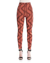 M Missoni | Brown Abstract-print Skinny Pants | Lyst