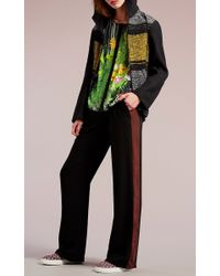 Clover Canyon - Black Brown Stripe Solids Pant - Lyst