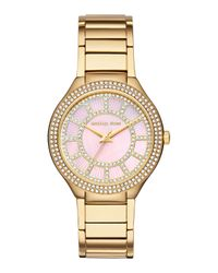 Michael Kors | Metallic 37Mm Kerry Glitz Bracelet Watch | Lyst