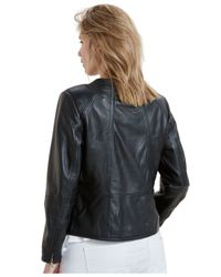 Violeta by Mango | Black Plus Size Leather Jacket | Lyst
