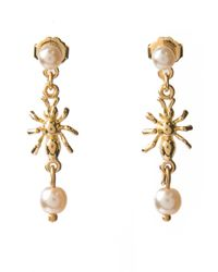 Tom Binns | Metallic Spider and Pearl Earrings | Lyst