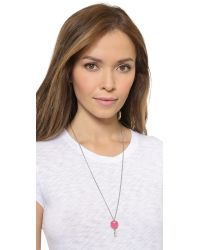 Marc By Marc Jacobs - Pink Lock In Pendant Necklace - Bright Rose - Lyst