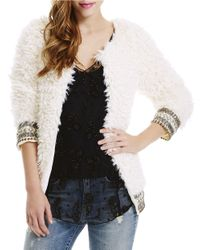 Jessica Simpson | Natural Embellished Mohair Sweater | Lyst