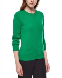 Jaeger | Green Cashmere Pocket Sweater | Lyst