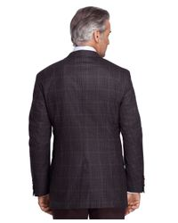 Brooks Brothers | Gray Madison Fit Saxxon Wool Check Windowpane Sport Coat for Men | Lyst