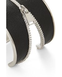 BCBGMAXAZRIA - Black Inlay Zipper Cuff - Lyst