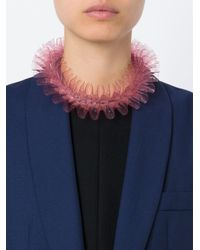 Mary Katrantzou - Pink Ruffled Necklace - Lyst