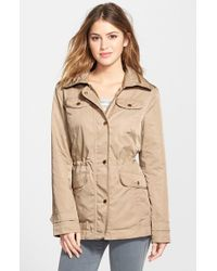 Ellen Tracy - Brown Anorak With Hidden Hood - Lyst