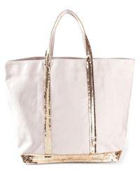 Vanessa Bruno - Pink Sequin-Embellished Cotton Tote - Lyst