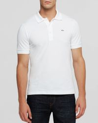 Lacoste | White Solid Luxe Slim Fit Polo for Men | Lyst