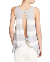 Free People - Gray Scoop Neck Tank Top - Lyst