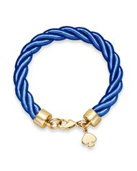 kate spade new york - Blue New York Goldtone Charm and Navy Learn The Ropes Bracelet - Lyst