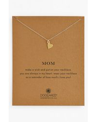 Dogeared | Metallic 'mom' Pendant Necklace | Lyst