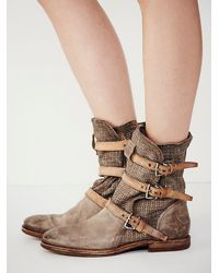 Free People - Natural Topanga Buckle Boot - Lyst