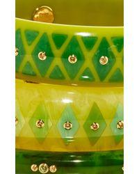 Mark Davis - Multicolor Set Of 3 Yellow Sapphire Bakelite Bangles - Lyst