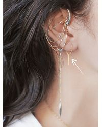 Free People | Metallic Chan Luu Womens Pull Through Bar Earrings | Lyst