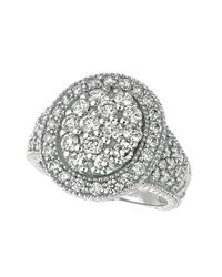Morris & David | Metallic 14kt White Gold And Diamond Ring | Lyst