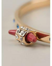 Maria Francesca Pepe - Metallic Embellished Open Ring - Lyst