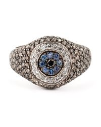 Ileana Makri - Metallic 'Evil Eye' Ring - Lyst